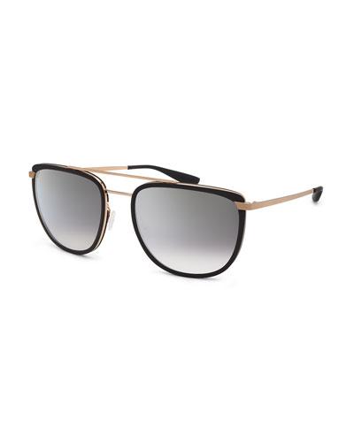 Men's Lafayette Metal & Acetate Navigator Sunglasses