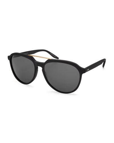 Men's Bulger Acetate Teardrop Aviator Sunglasses