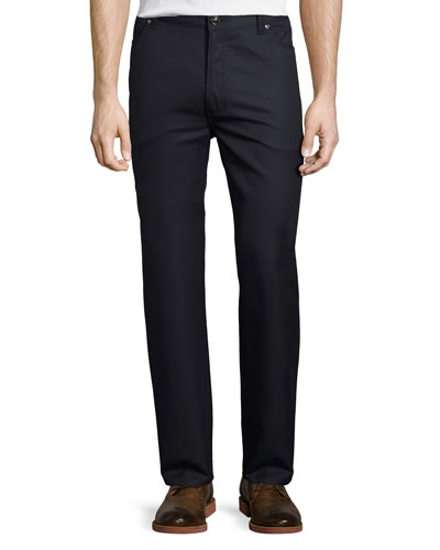 Wool-Cotton Five-Pocket Pants