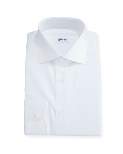 Tonal Houndstooth Dress Shirt, White