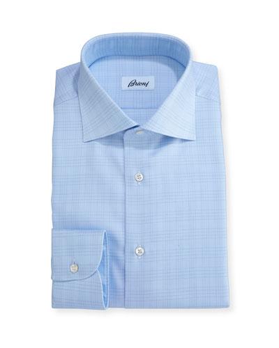 Plaid Dress Shirt, Light Blue