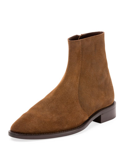 Balenciaga Suedes STANDARD SUEDE CHELSEA ANKLE BOOT, BROWN