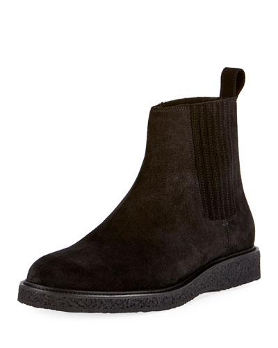 Hugo 25 Suede Chelsea Boot, Black
