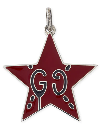 GucciGhost Sterling Silver & Enamel Star Charm