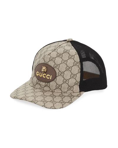 15b3c9889a12cb Gucci Cap. GG Supreme Baseball Cap with Feline Head
