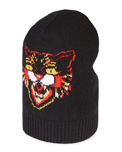 Wool Hat with Angry Cat