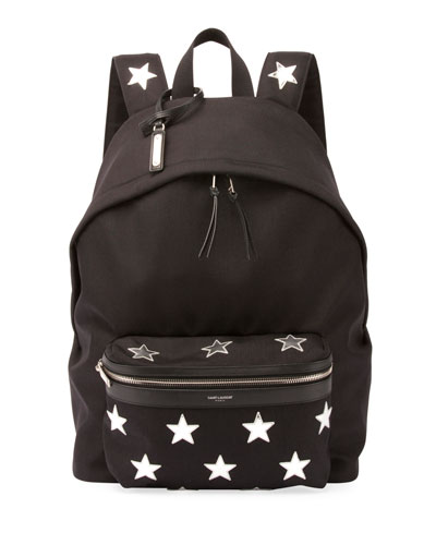 City California Stars Nylon Backpack, Black