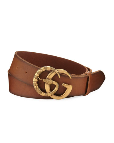 90b77a35b11 Cuoio Toscano Snake GG Belt Quick Look. Gucci