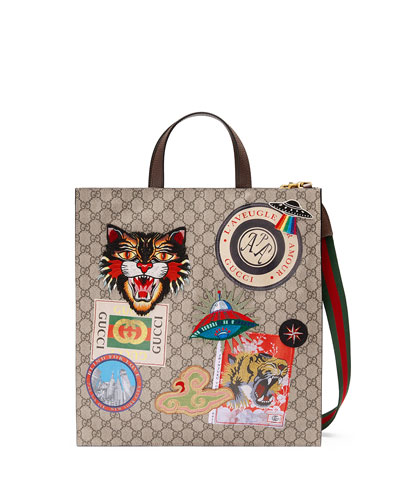 Gucci Courier Soft GG Supreme Tote Bag