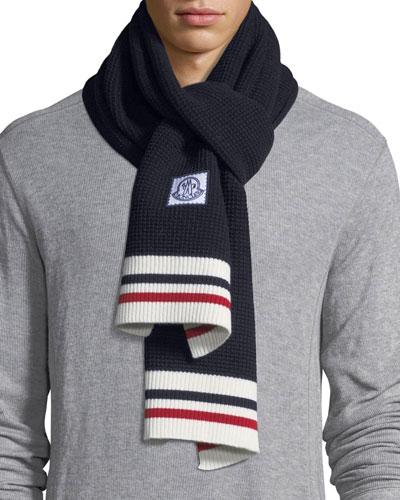 Sciarpa Tricot-Knit Virgin Wool Scarf