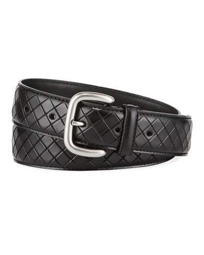 Scolpito Scored Leather Belt