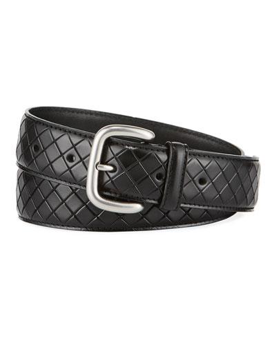 Bottega Veneta Scolpito Scored Leather Belt