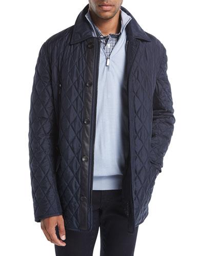 Quilted Silk Car Coat