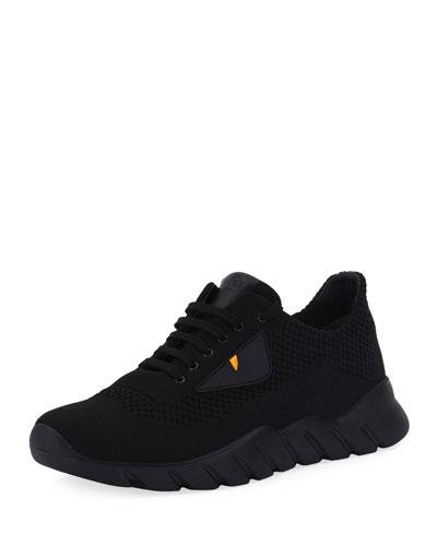 Bag Bugs Knit Running Sneaker, Black