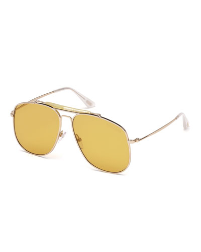Connor Runway Aviator Sunglasses