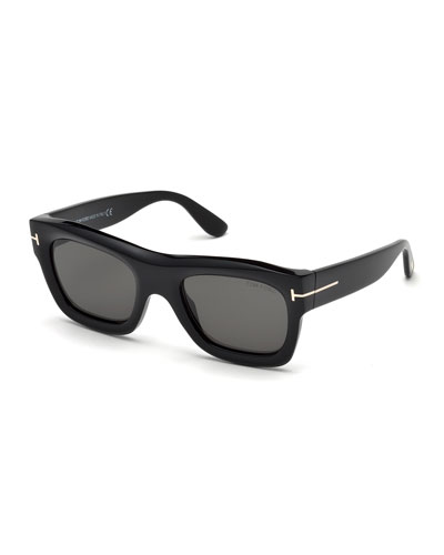 Wagner Thick Square Sunglasses, Black