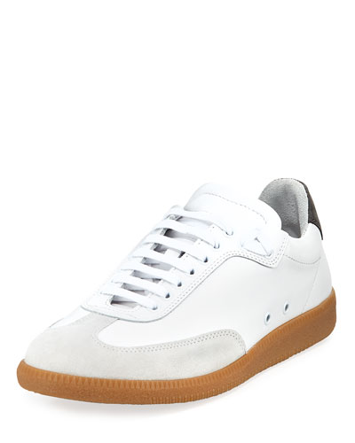 Otto Low-Rise Leather Sneaker, White