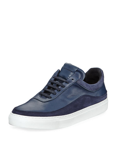 Braeburn Leather Low-Top Sneaker, Navy