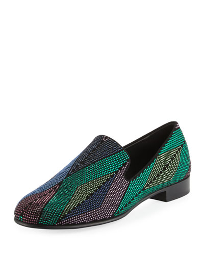 Swarovski Crystal Leather Loafer