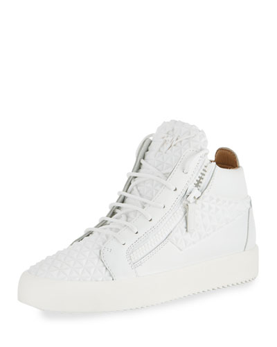 Men's Pyramid Leather Mid-Top Sneaker