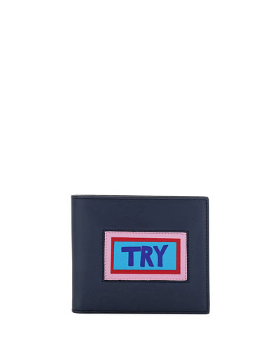 Try Vocabulary Leather Bi-Fold Wallet
