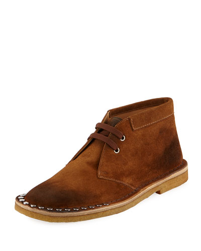 Scamosciato Studded Sport Suede Chukka Boot