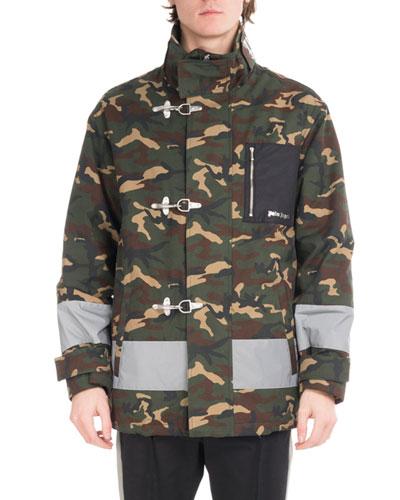 Camouflage Fireman Utility Jacket, Green