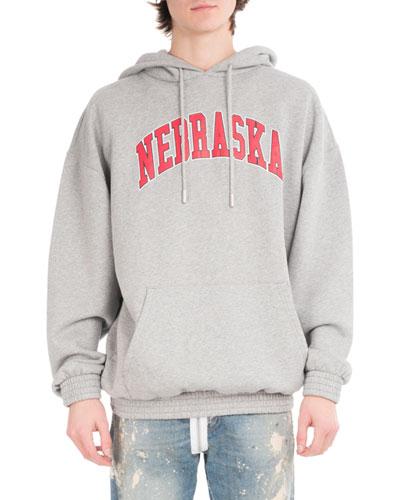 Nebraska Cotton Pullover Hoodie