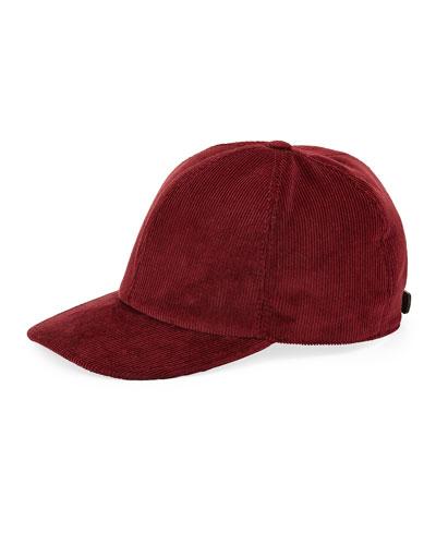 Solid Corduroy Baseball Cap