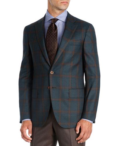 Plaid Super 140s Wool Sport Coat