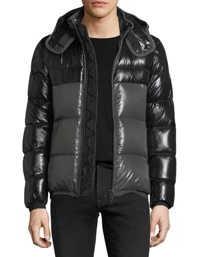 Harry Shiny Puffer Jacket w/ Removable Hood