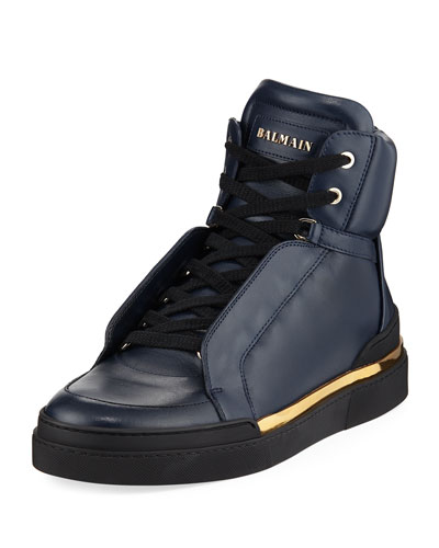 Atlas Suede High-Top Sneaker, Blue