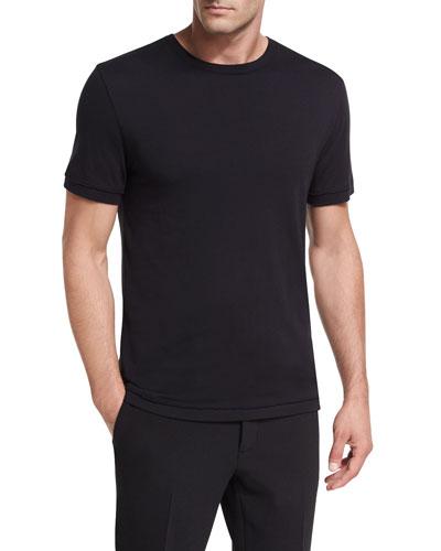 Raw-Edge Crewneck T-Shirt