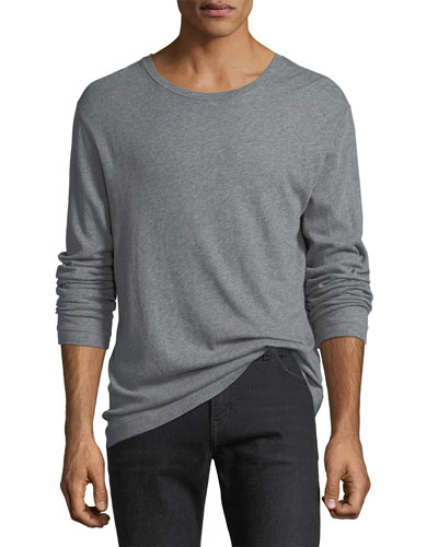 Cotton-Cashmere Long-Sleeve T-Shirt