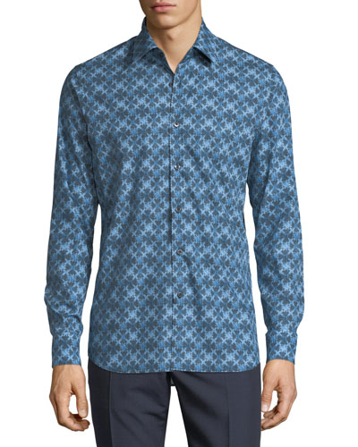 Kaleidoscope-Print Long-Sleeve Shirt