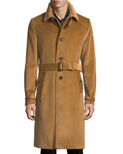 Belted Corduroy Trenchcoat