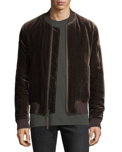 Men's Velvet Bomber Jacket