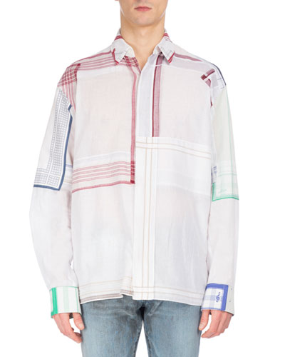 Patchwork Handkerchief Shirt