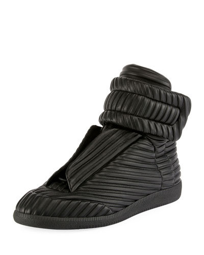 Future Tire-Tracks Leather High-Top Sneaker