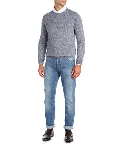 Mouline Melange Crewneck Sweater