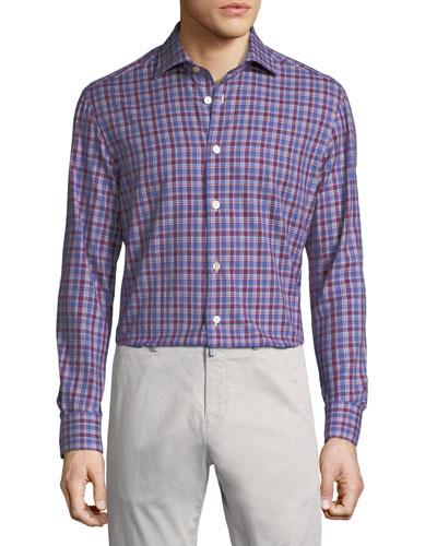 Casual Plaid Cotton Shirt