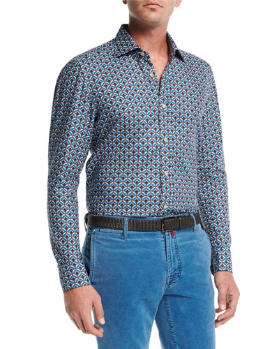 Medallion-Print Cotton Shirt