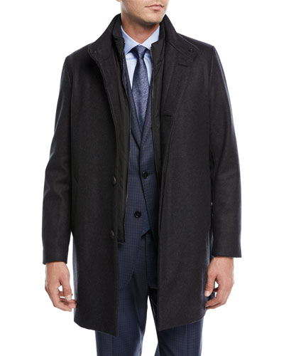 3-in-1 Wool-Blend Coat