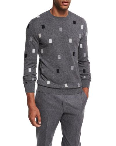Cashmere Rectangle Crewneck Sweater