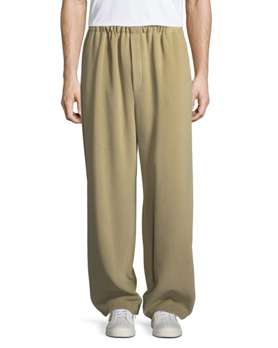Fleece Wide-Leg Pants