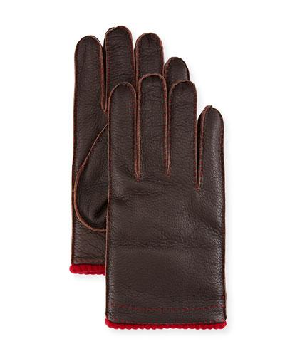 Cashmere-Lined Deerskin Gloves