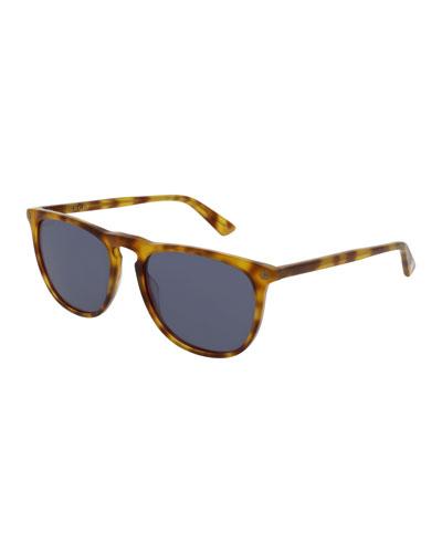 Acetate Pantos Sunglasses, Brown