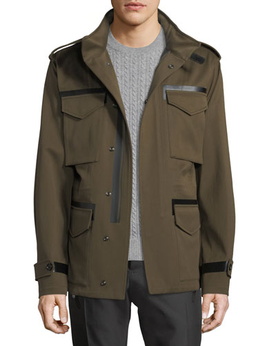 Leather-Trim Field Jacket