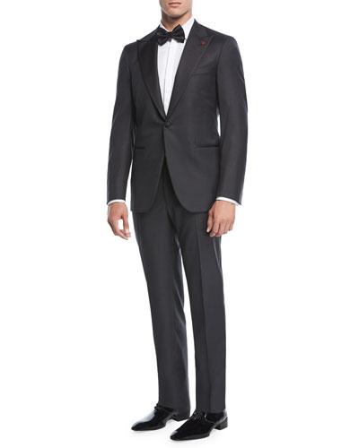 Two-Piece Tuxedo Suit, Charcoal