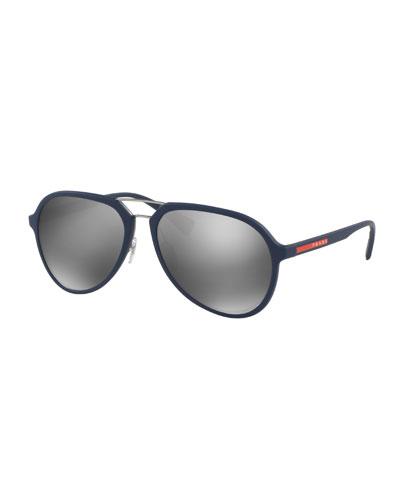 Linea Rossa Men's Pilot Sunglasses